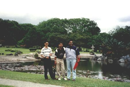 With Manjith and Ravi at Chinese Garden, Singapore.